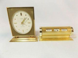 Semca Eight Day Seven Jewel Clock  Calendar