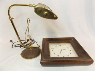 Treble Clef Piano Desk lamp  Clock