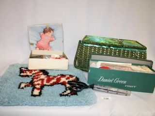 Sewing Tools and Basket  Tapestry  Pinking S