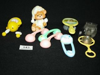 Baby Toys and Hair Brushes  9  items
