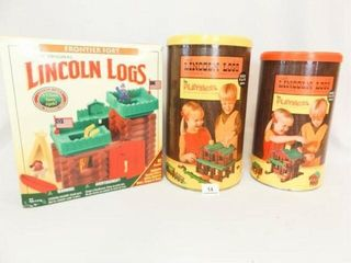 lincoln logs   3 Containers