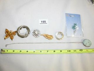 Pendant and Brooches