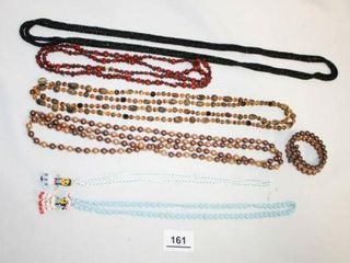 long Beaded Necklaces  Native beaded