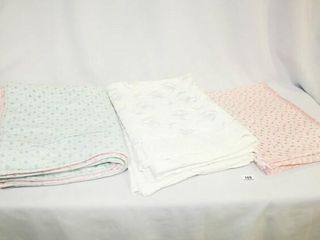 Baby Blankets  4  Blue Pink Backed  Quiltex