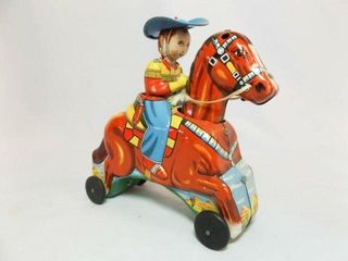 Tin Horse and Rider  6  made in Japan