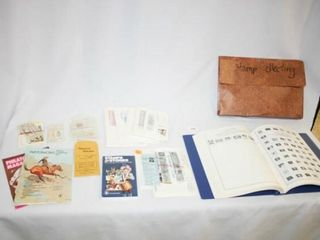 Stamp Collector Book and Various Stamps