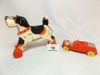 Auburn Rubber Car  Viffo Dog Pull Toy