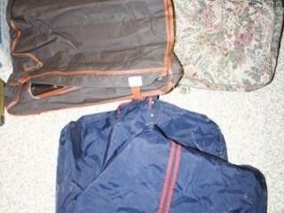 3 Hanging Garment Bags  One Floral Fabric