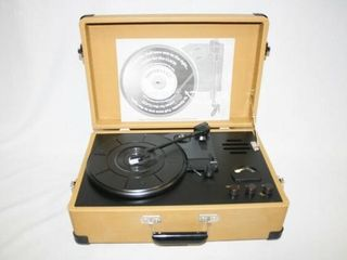 Record Player in Yellow Case  looks New
