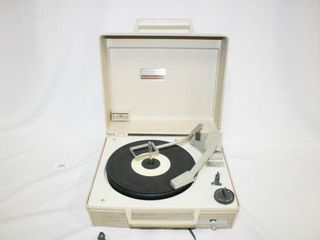 General Electric Record Player in case