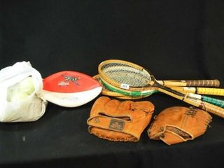 Rackets  Mitts  Balls  Flying Aces Football