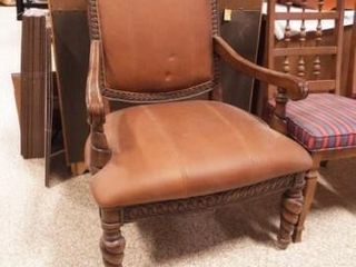 Wood Frame Upholstered Chair