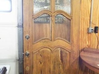Wood Door  Frosted Glass