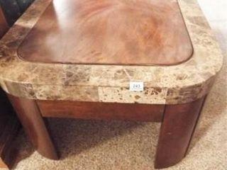 Coffee Table  Wood  Edging  50  x 32  x 19