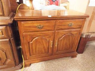 Wood Bar Cart  33  x 18