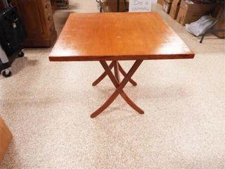 Wood Fold Up Table  27  tall x 31