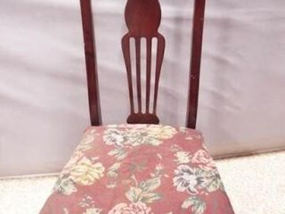 Wood Upholstered Chair on Casters