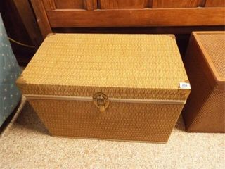 Wood   Woven Chest  Brass Accents