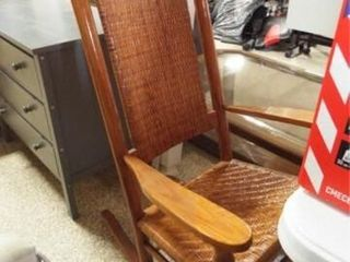 Rocking Chair Wood Woven  40  tall