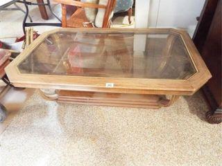 Coffee Table Wood  Glass  15