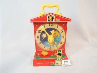 Fisher Price Teaching Clock Music Box
