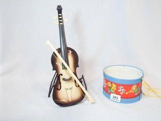 Toys   Ohio Art Drum  Hard Plastic Violin