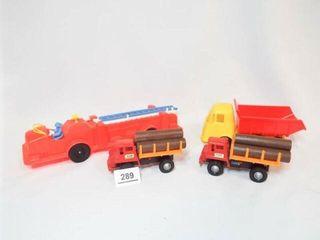 Toys   Firetruck  Dump truck  log Trucks  2