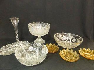 Glass Bowls  Flute  Relish Plate  8