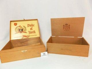Wood Cigar Boxes Silver Kings  Duke of York