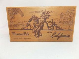 Wood Box  Mission Pak  California