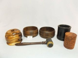 Wood  leather Pieces  6