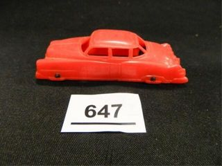 Vintage Plastic Red Toy Car