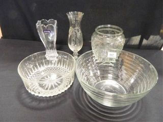 Glass Serving Pieces  Crystal Vase