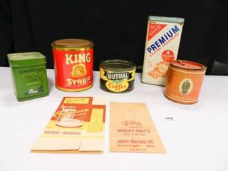 Vintage Collectible Tins  Assorted