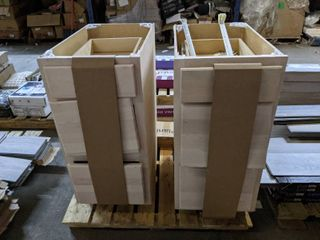 UNFINISHED MAPlE CABINETS