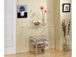 lucite Clear Acrylic Console Table   Retail 318 00