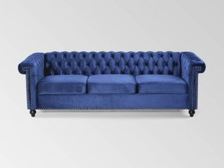 Parkhurst Tufted Chesterfield Velvet 3 Seater Sofa by Christopher Knight Home  Retail 595 28