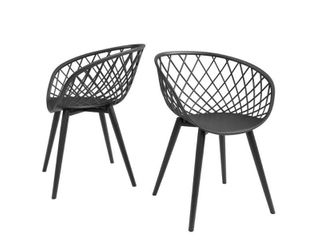 Set of 2 Kurv Chair Black   Jamesdar