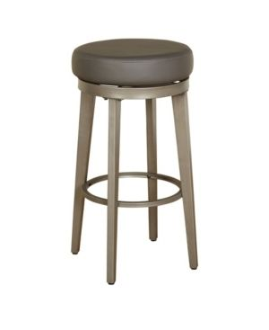 linden Swivel Counter Height Barstools Gray  Set of 2