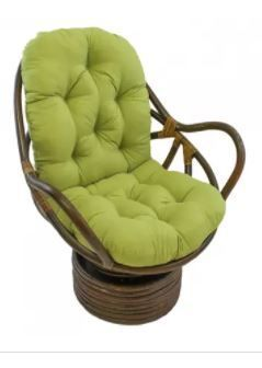lime Blazing Needles Swivel Rocker Cushion  Cushion Only