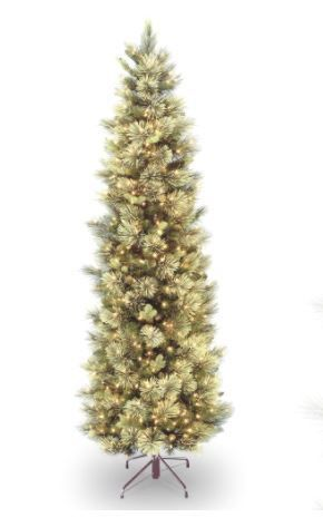7 5 Carolina Pine Slim Tree Pre  lit