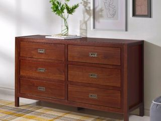 Carson Carrington Modern 6 drawer Storage Dresser  Retail 449 99  Damage to One Piece