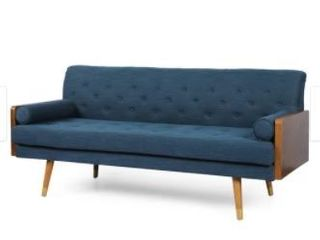 Jalon Mid Century Modern Tufted Fabric Couch by Christopher Knight  Retail 474 49