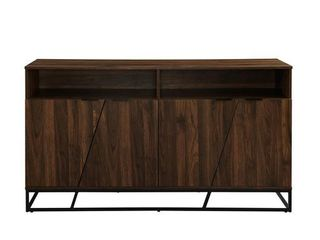 58  Angled Door Sideboard Dresser   Dark Walnut