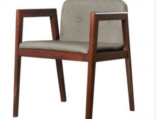 Modrest Avrum Modern Dark Grey Eco leath Chairs   Set of 2  Retail 450 00