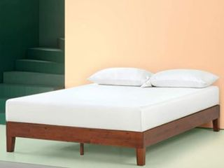 Zinus Twin 12 Inch Deluxe Solid Wood Platform Bed Cherry