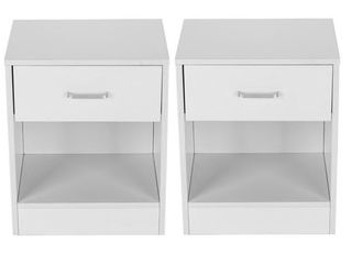 Bedroom Storage End Bedside Tables  Set Of Two