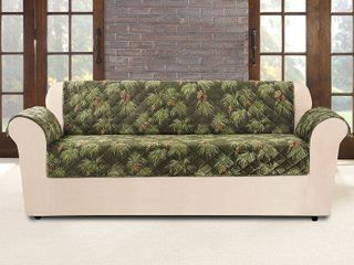 Furniture Flair Pinecone Sofa Cover Evergreen   Sure Fit