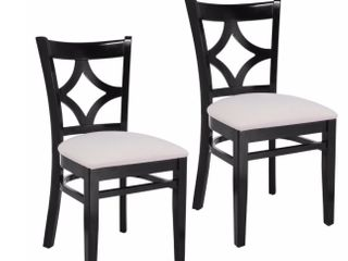Diamond Back Dining Chairs   Set of 2