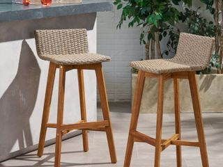 la Brea Outdoor Arcadia Wood and Wicker Chairs